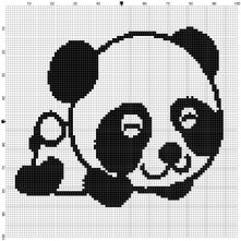 Beginner's Panda Bear Counted Cross Stitch Sewing Kit